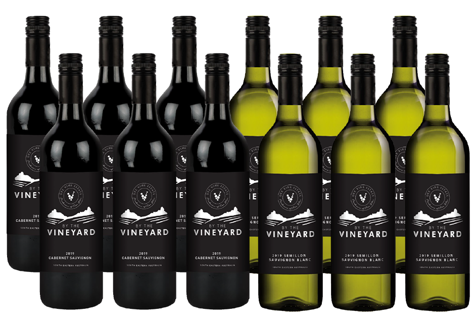 By The Vineyard Mixed Pack Cab Sauv & Sem Sauv Blanc 2019 (12x 750mL). SEA.