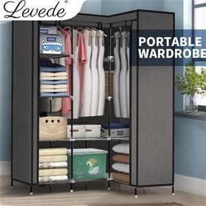Levede Portable Corner Clothes Closet Wa