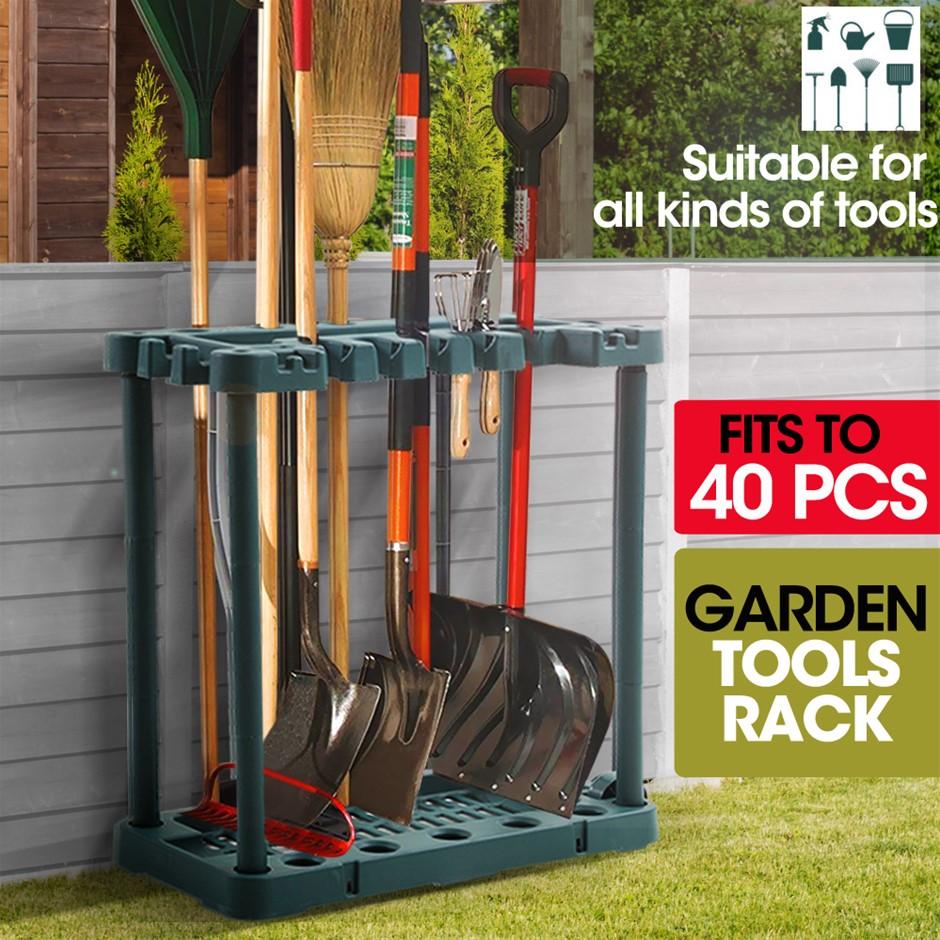 Garden Farm Shed Garage Tools Storage Rack Long Short Handles Organizer
