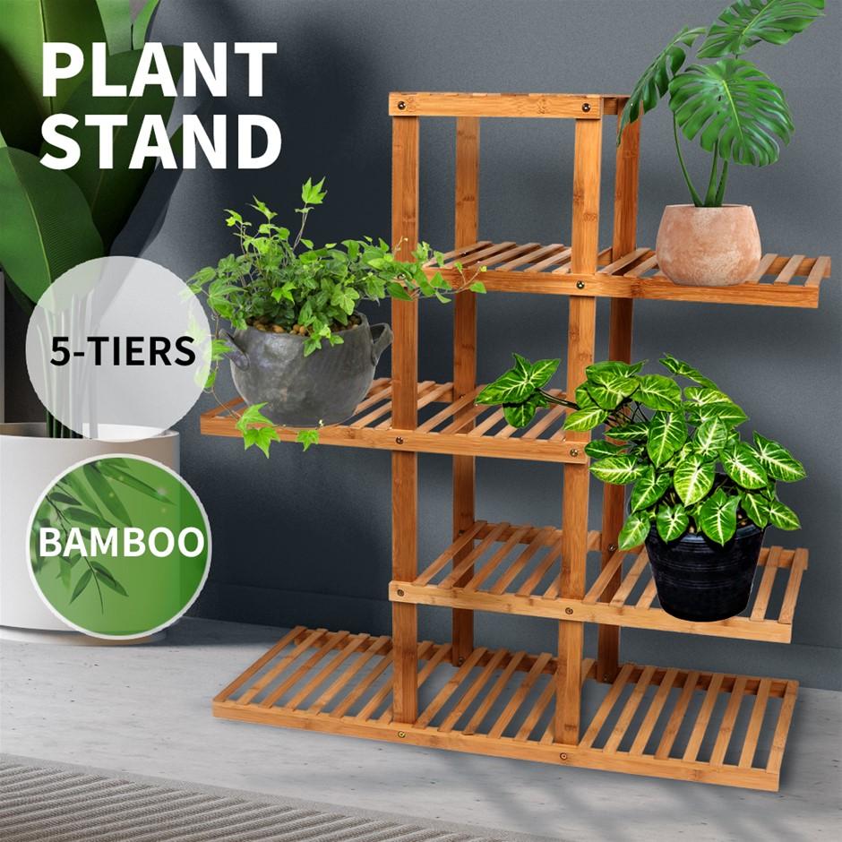5 Tier Plant Stand Outdoor Indoor Flower Pots Rack Garden Shelf