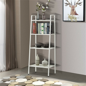 4 Tier Ladder Shelf Unit Bookshelf Bookc