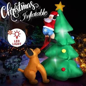 Inflatable Christmas Santa Snowman with