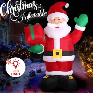 Inflatable Christmas Santa Snowman with
