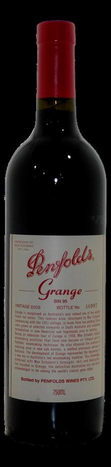 Penfolds Bin 95 Grange 2008 (1x 750mL), SA