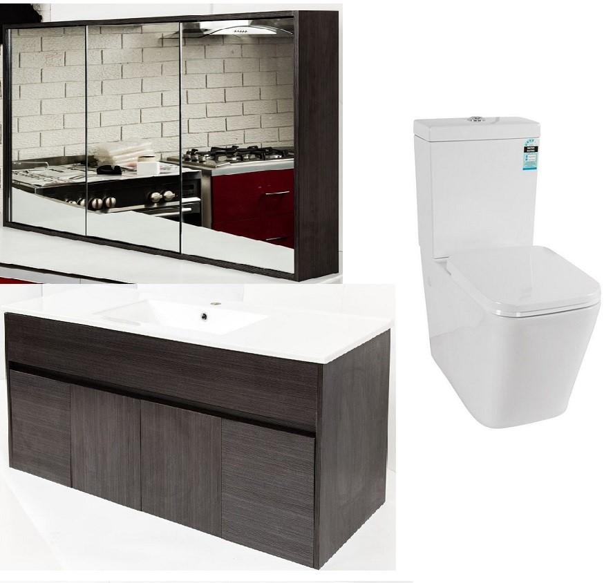 Premium Bathroom Package (1200mm Mirror Cabinet/Vanity, Toilet Suite)