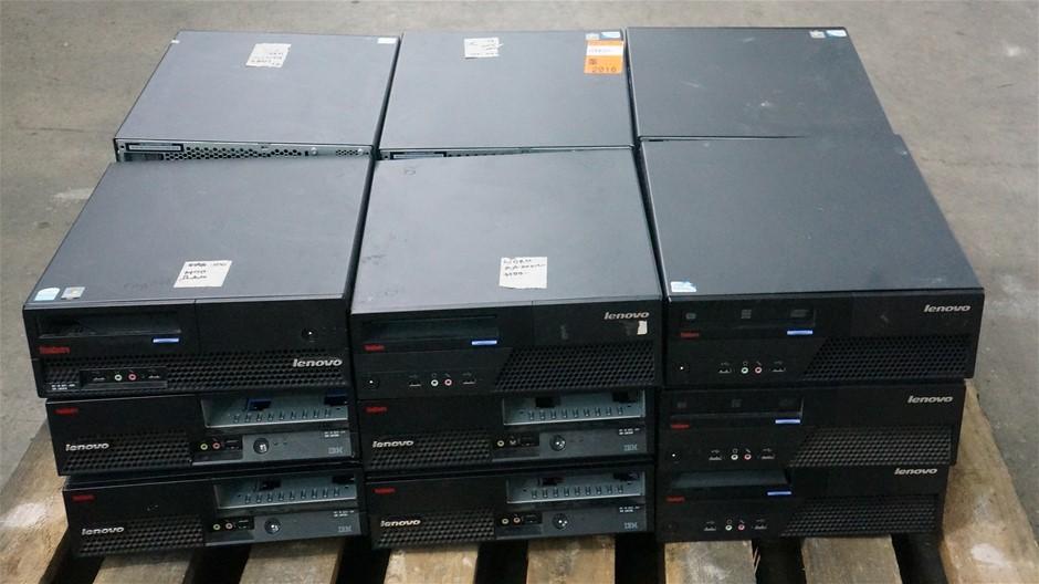 Pallet of Lenovo Small Form Factor Desktop PCs