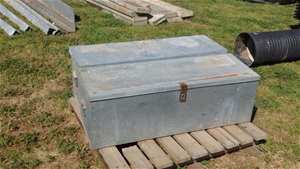 2 x Galvanised Tool Boxes