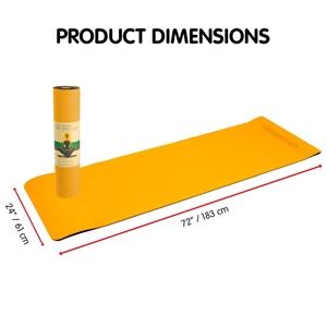 TPE Yoga Mat 183*61*0.8cm Orange