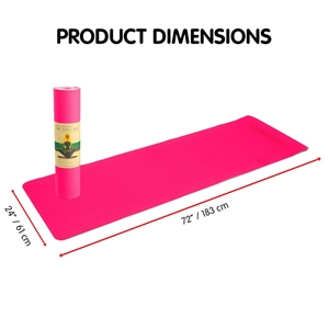 TPE Yoga Mat 183*61*0.8cm Pink
