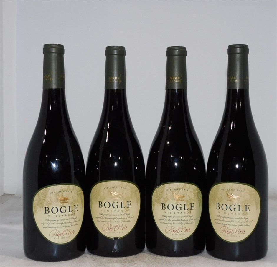 Pack of Assorted Bogle Pinot Noir (4x 750mL), California, Cork Closure