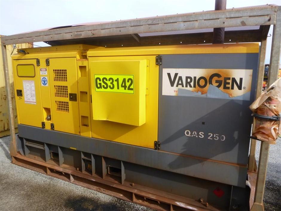 2016 VarioGen QAS 250 KVA Silenced Enclosed Generator (See Grays Note)