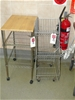 Mobile Wire Basket Bin unit plus Small Mobile Trolley with 2 x Undershelves
