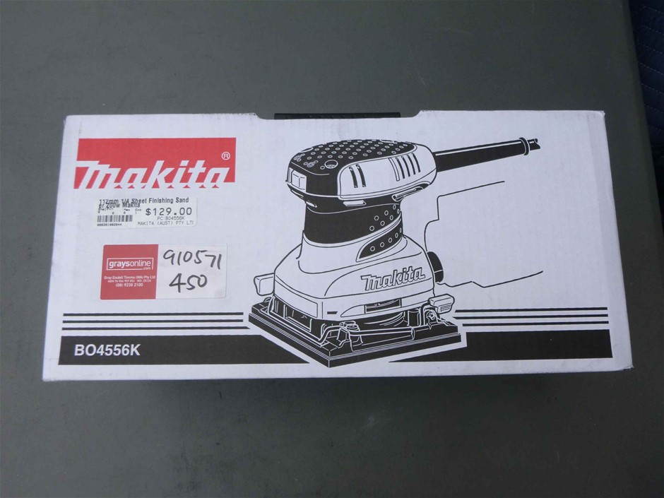 Qty 1 approx of Makita 112mm Sheet Finishing Sander - Unused