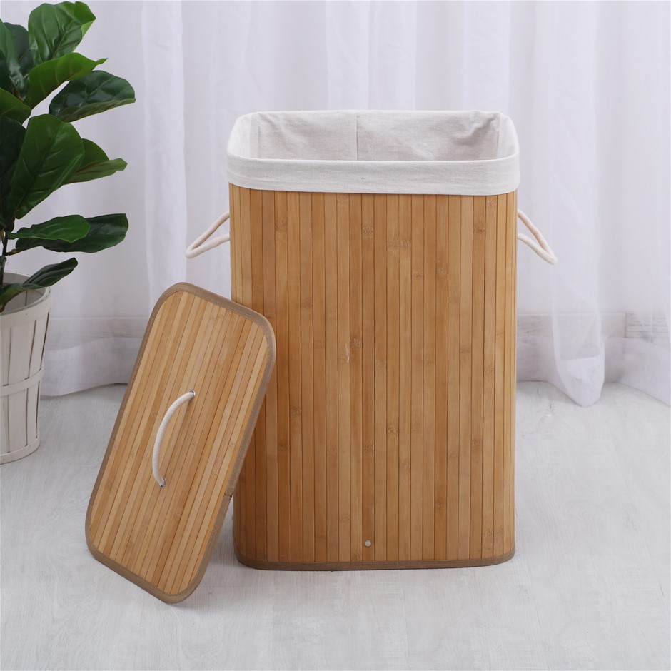 Sherwood Rectangular Foldable Bamboo Laundry Hamper