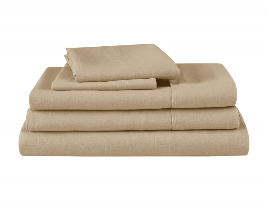 Natural Home Linen Sheet Set King Single Bed HAZENLUT