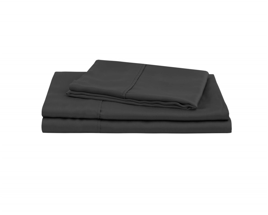 Natural Home Tencel Sheet Set Queen Bed CHARCOAL