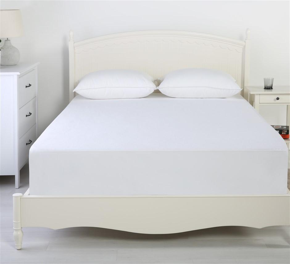 Dreamaker Reversible Cotton Waterproof Mattress Protector Queen Bed