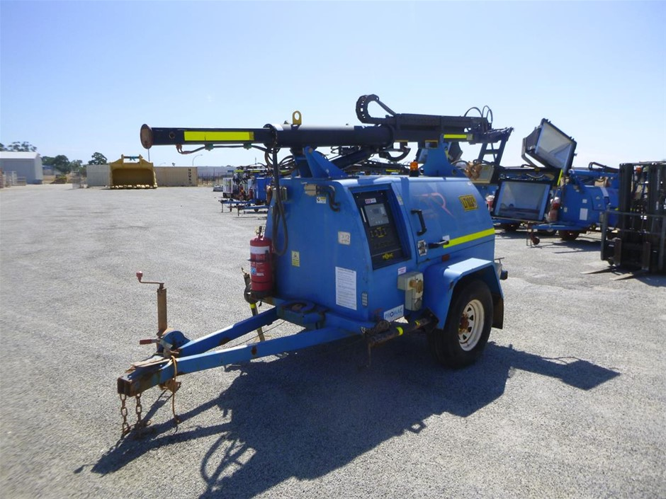 2012 Prolite 75M Mercury Vapour 4 Light Lighting Tower (See Grays Note)