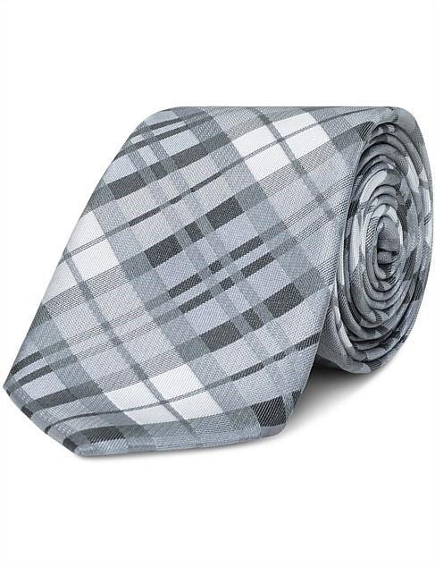 VAN HEUSEN Grey Check Colour: Grey. Polyester. Buyers Note - Discount Freig