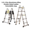 1.9+1.9m Aluminium Alloy Double Sided Ladder Extendable step (Pooraka, SA)