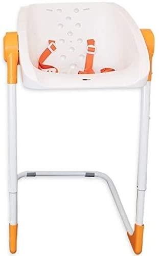 CHARLICHAIR Original Baby Shower Chair, White/ Orange, 21.2cm x 60.6cm x 50