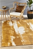 Extra Large Mustard Abstract Jacquard Woven Rug - 400X300cm