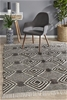 Large Monochrome Handmade Wool, Cotton & Viscose Rug- 280X190cm