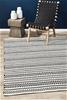 Medium Monochrome Handmade Wool Scandi Flatwoven Rug - 225X155cm
