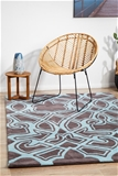 Small Smoke Handmade Super Soft Abstract Rug - 165X115cm