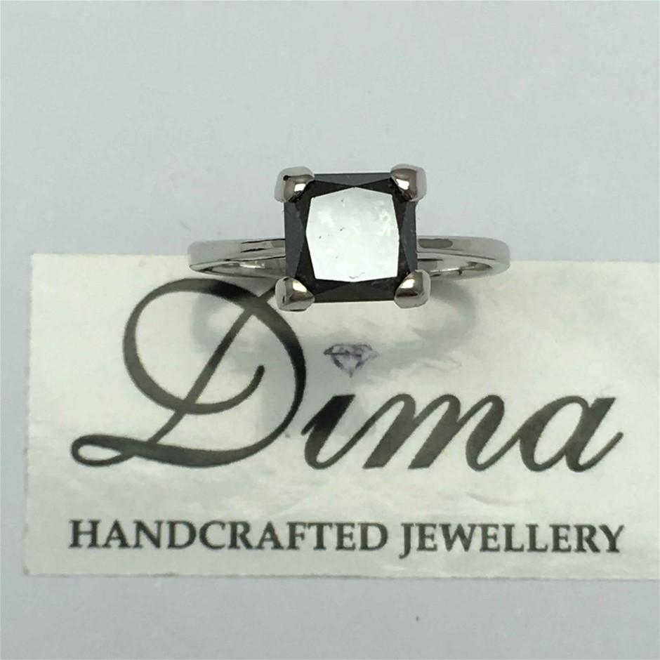 18ct White Gold, 2.95ct Diamond Ring
