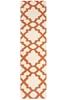 Large Orange Handmade Wool Trellis Flatwoven Runner Rug - 400X80cm