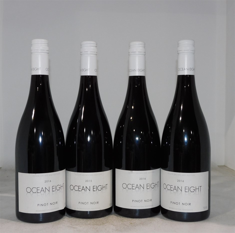 Pack of Assorted Ocean Eight Pinot Noir (4x 750mL), Mornington Peninsula