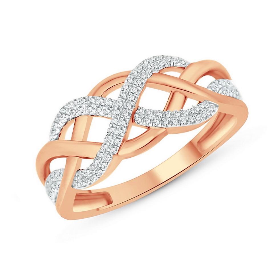9ct Rose Gold, 0.15ct Diamond Ring