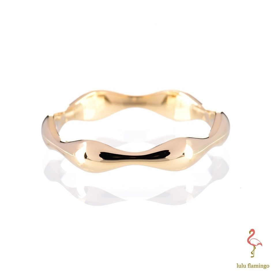 Solid 9ct yellow gold ring