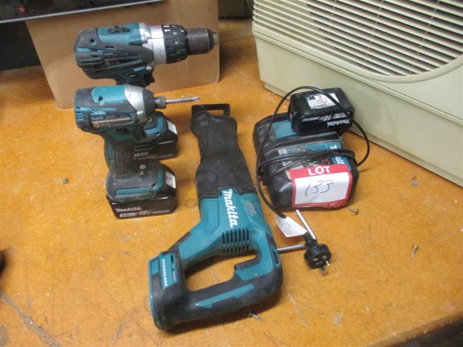 3x Makita 18v Hand Held Tools
