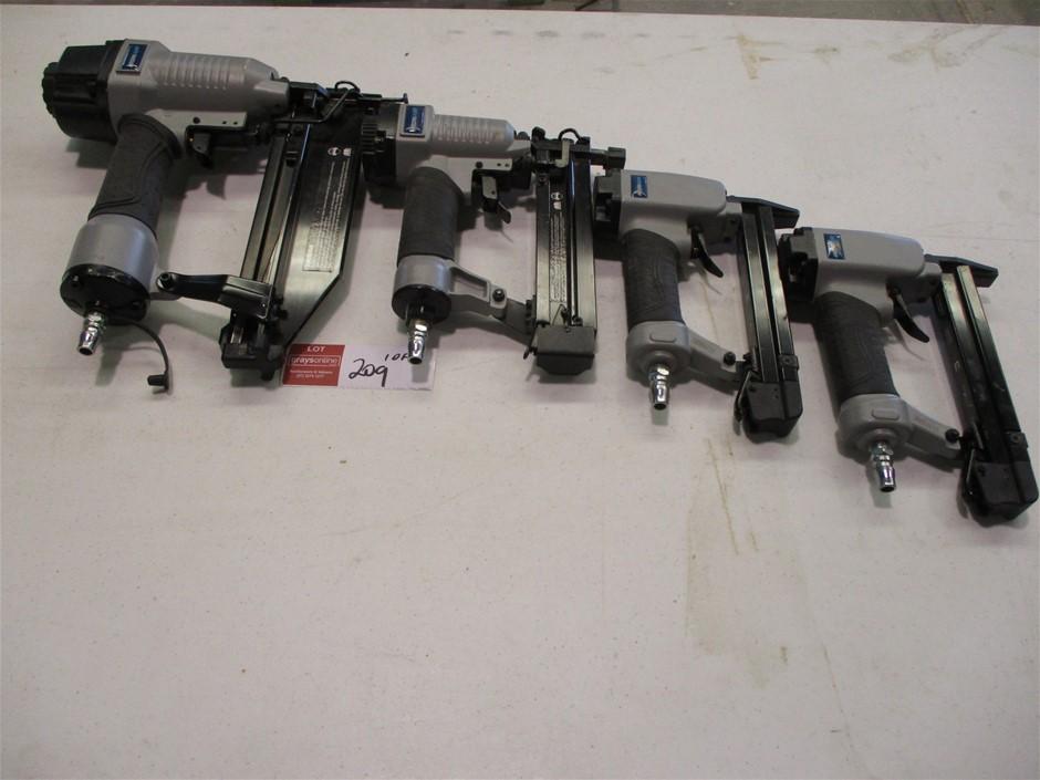 Qty 4 x Iron Air Nail Staple Guns