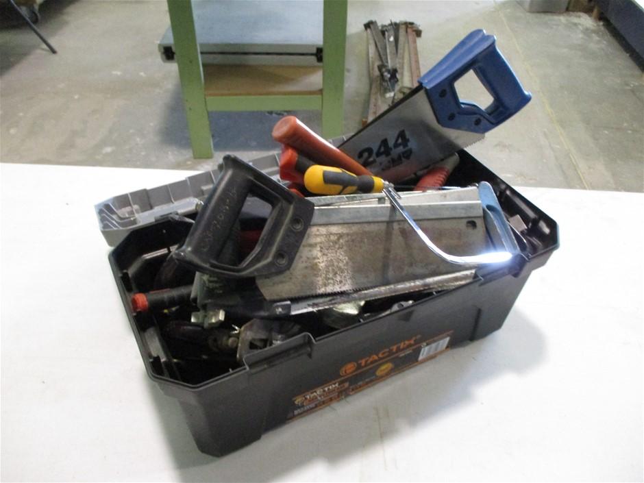 Tool Box of Various Manual Hand Tools