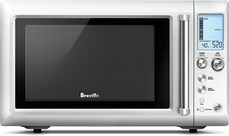 BREVILLE Quick Touch Compact Microwave, Brushed Stainless Steel. (SN:B075RX