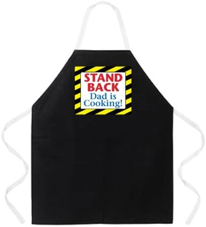 4 x ATTITUDE APRONS Fully Adjustable ``Stand Back Dad Is Cooking!`` Apron,