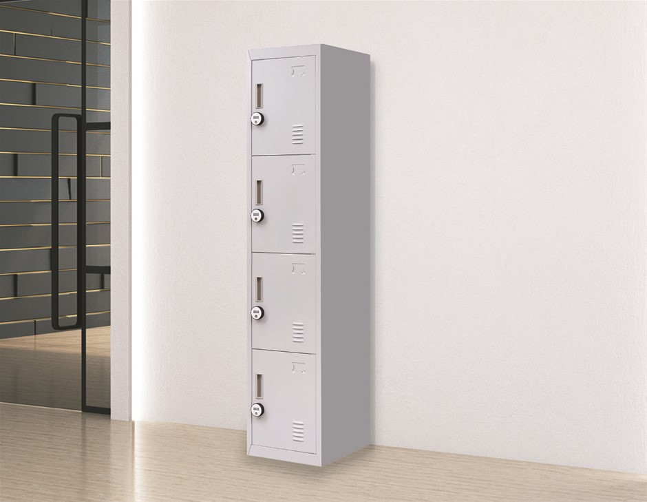 4-Door Vertical Locker for Office Gym Shed School Home Storage