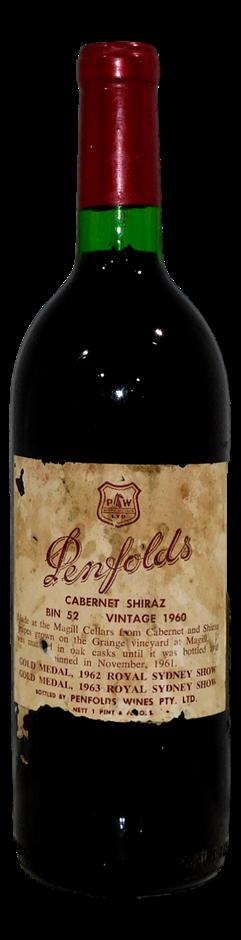 Penfolds Bin 52 Cabernet Shiraz 1960 (1x 1 PT 6FL OZ)