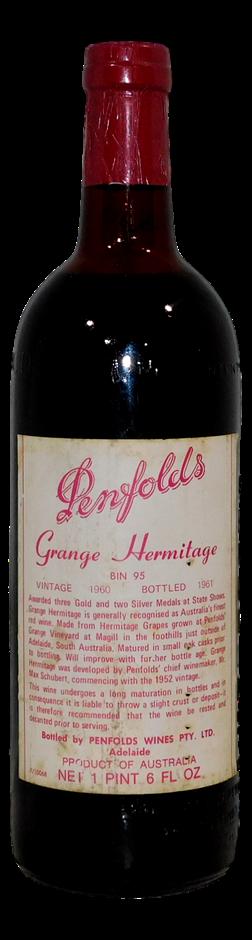 Penfolds Bin 95 Grange Hermitage 1960 (1 x 1PT 6FL OZ), 5* Prov