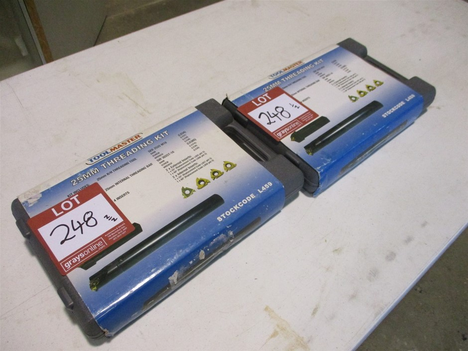 Qty 2 x Tool Master L459 25mm Threading Kits