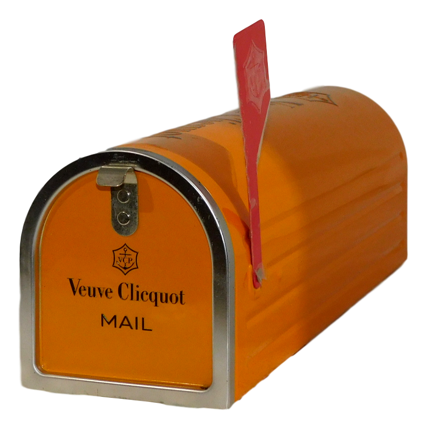 Veuve Clicquot Brut Champagne NV (1x 750mL, Metal Letterbox). Cork
