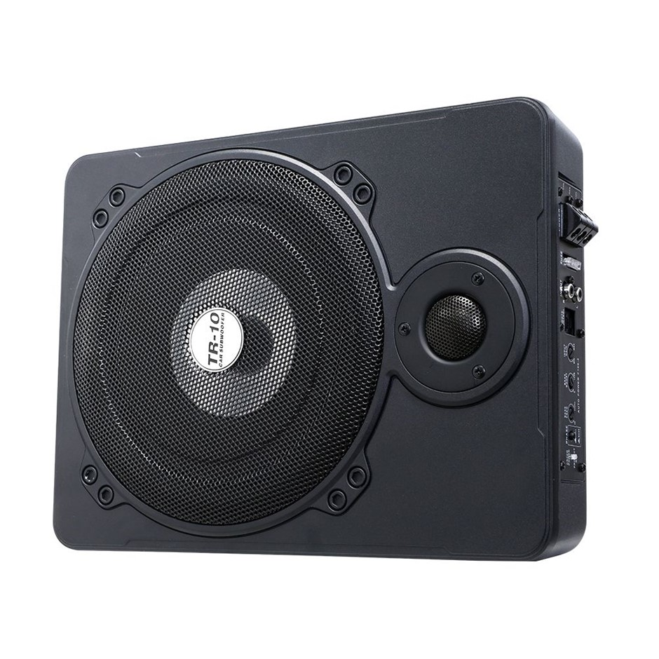 600W Car Subwoofer 10 Inch Ultra-Thin Speaker Audio Amplifier Under-Seat