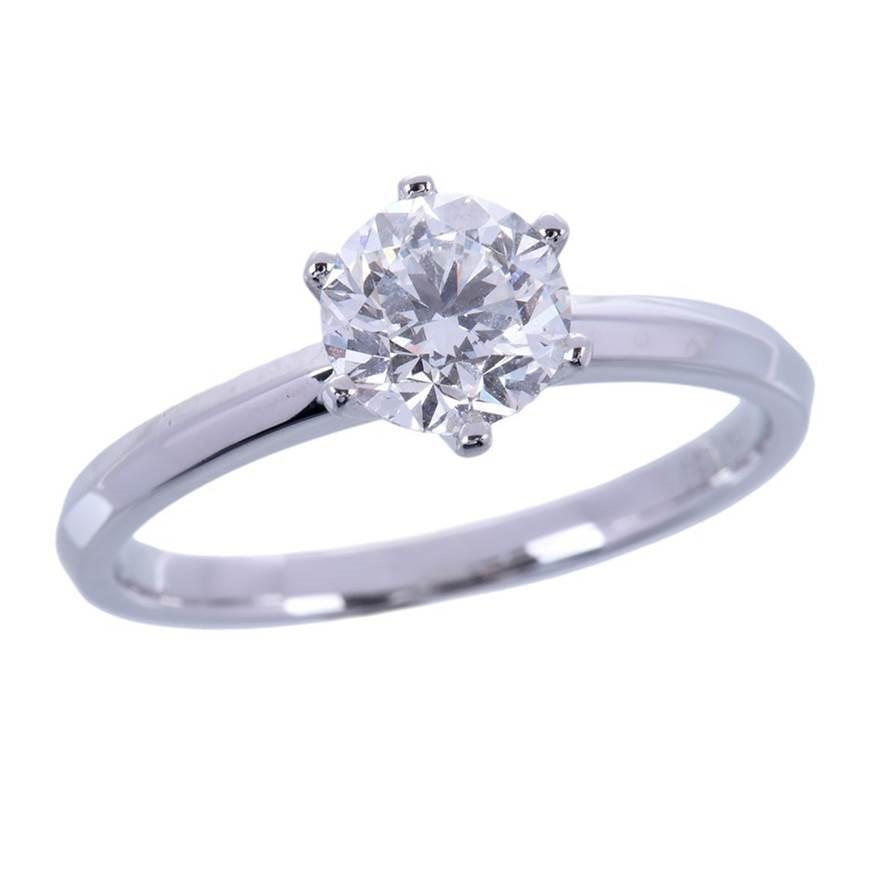 18ct White Gold, 0.70ct GIA Diamond Ring