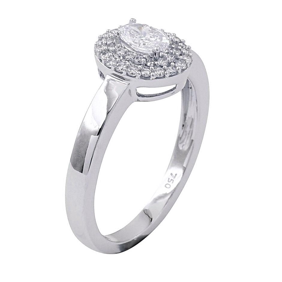 18ct White Gold, 0.48ct Diamond Engagement Ring