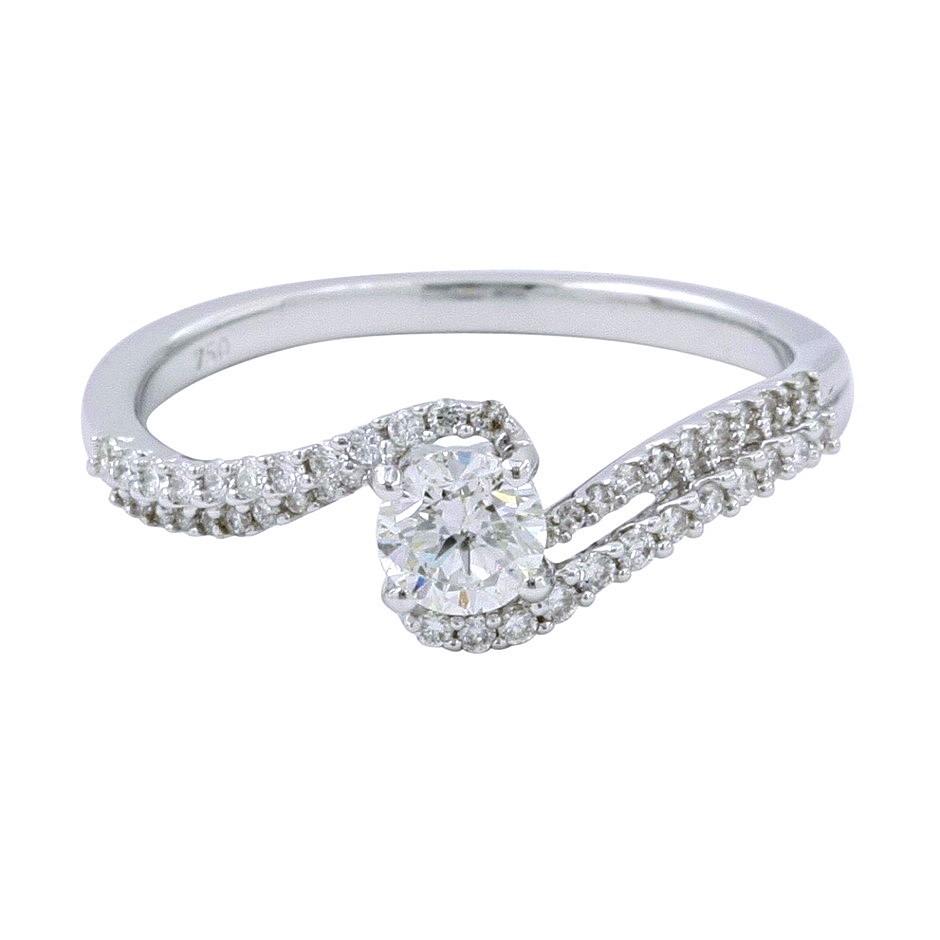 18ct White Gold, 0.61ct Diamond Engagement Ring