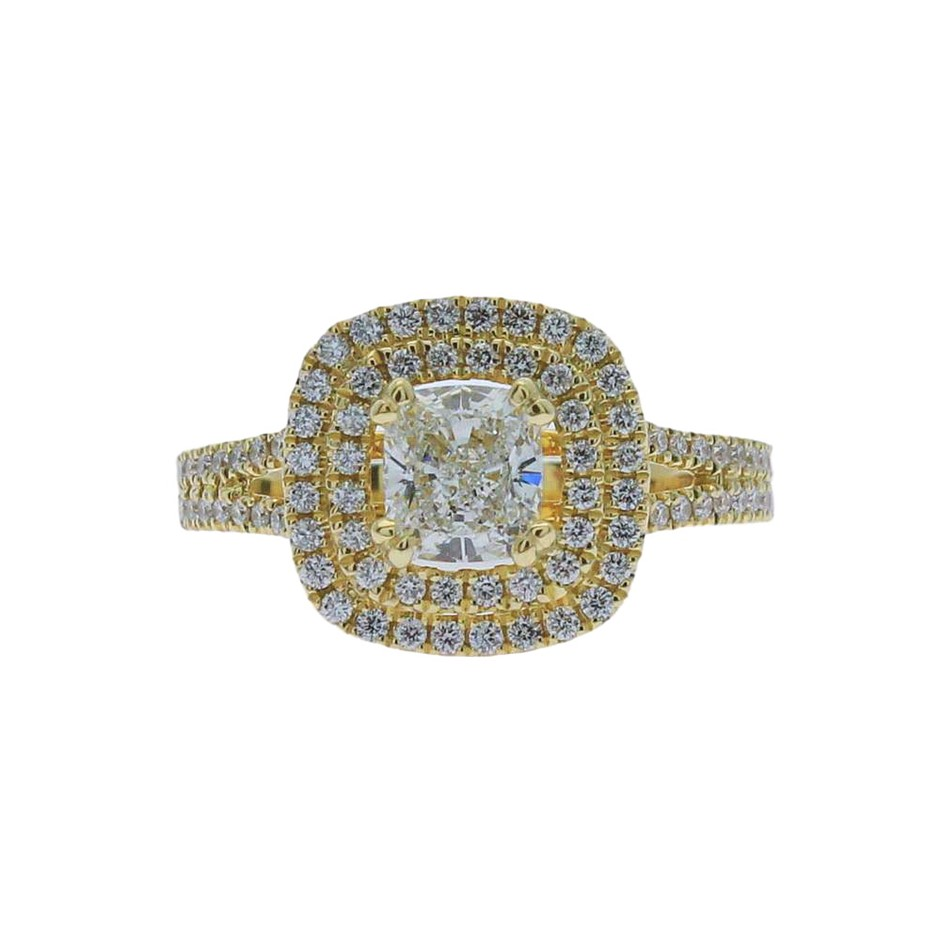 18ct Yellow Gold, 1.34ct GIA Diamond Engagement Ring