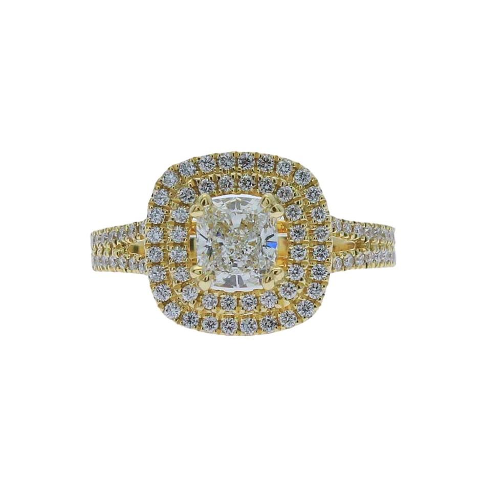 18ct Yellow Gold, 1.34ct GIA Diamond Engagement Ring
